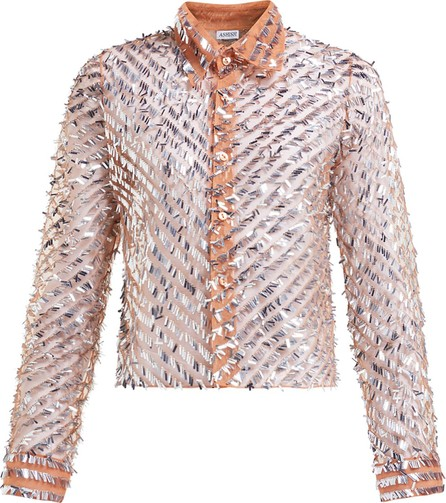 ASHISH Striped sequinned shirt
