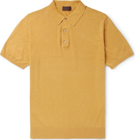Altea Knitted Linen and Cotton-Blend Polo Shirt