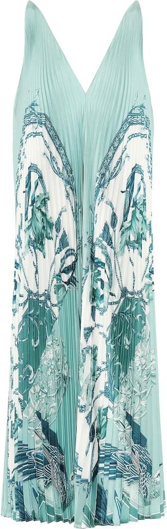 Salvatore Ferragamo Printed silk-faille dress