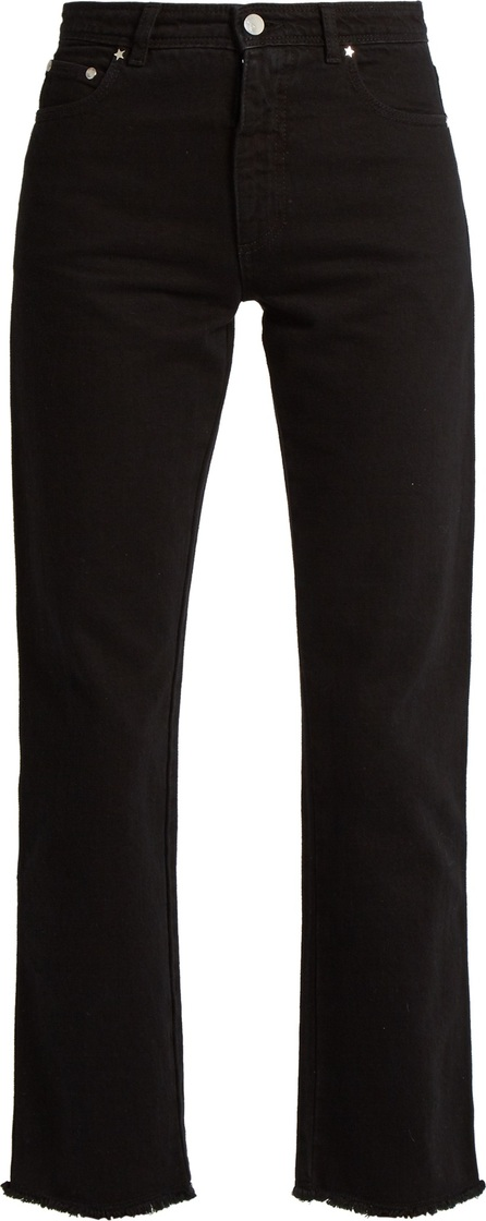 Alexachung Frayed-hem high-rise cropped jeans