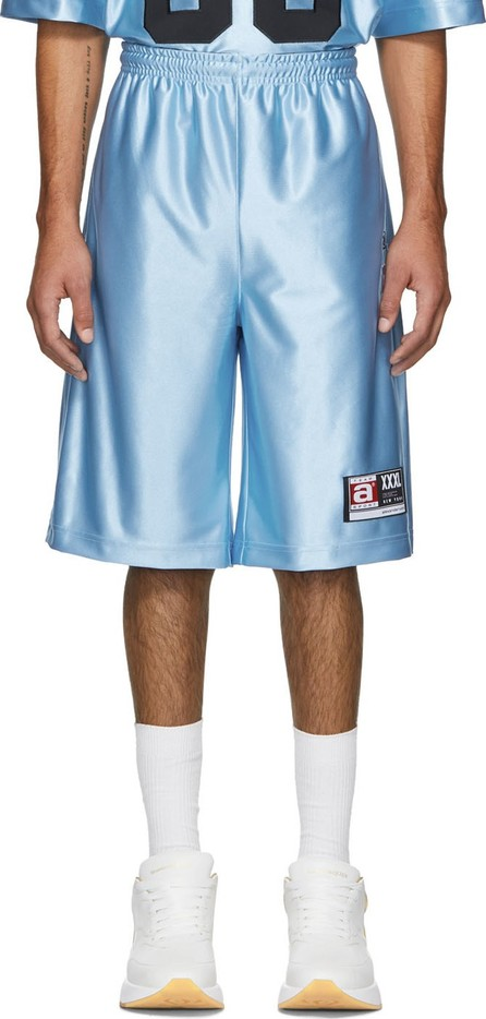 Alexander Wang Blue High Shine Jersey Shorts