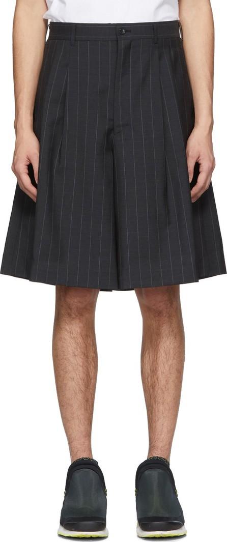 Comme Des Garçons Homme Plus Navy Chalk Stripe Shorts