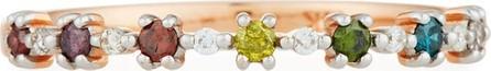 Stevie Wren 14k Multicolor Diamond Flowerette Stacking Ring, Size 7
