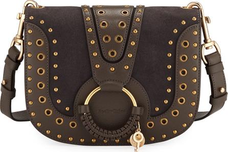 See By Chloé Hana Studded Leather/Suede Shoulder Bag