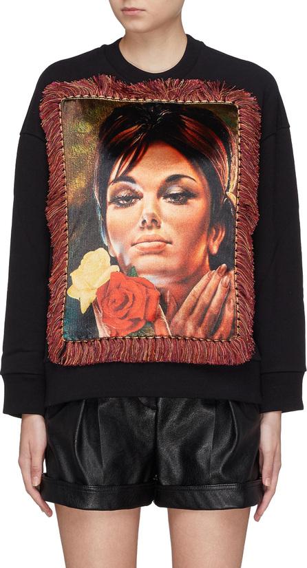 Stella McCartney Fringe graphic appliqué sweatshirt