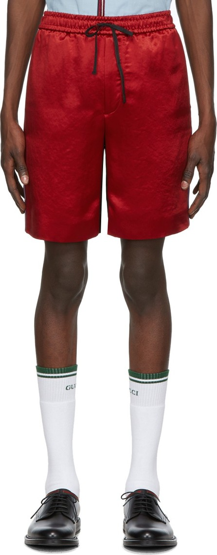 Gucci Red & Black GG Shorts