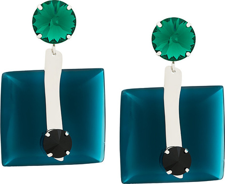 Clip-on crystal earrings