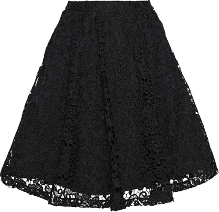 Alice + Olivia Earla flared guipure lace skirt