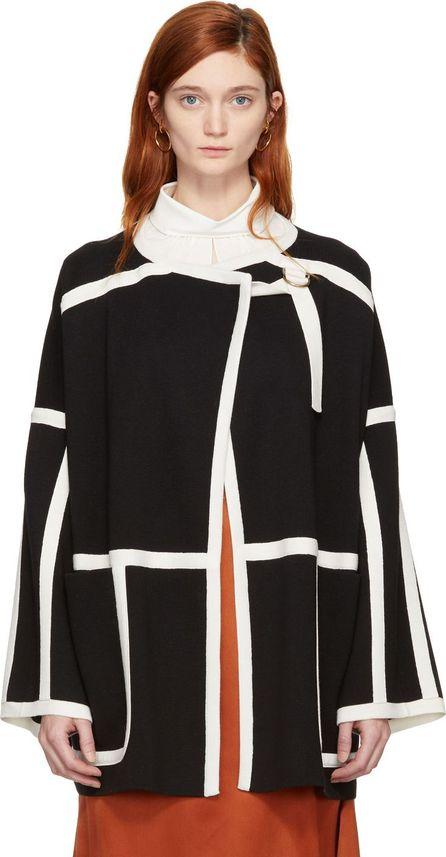 Chloe Black & White Wool Cape Coat