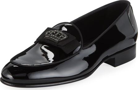 Dolce & Gabbana Men's Patent Leather Crown-Applique Loafer