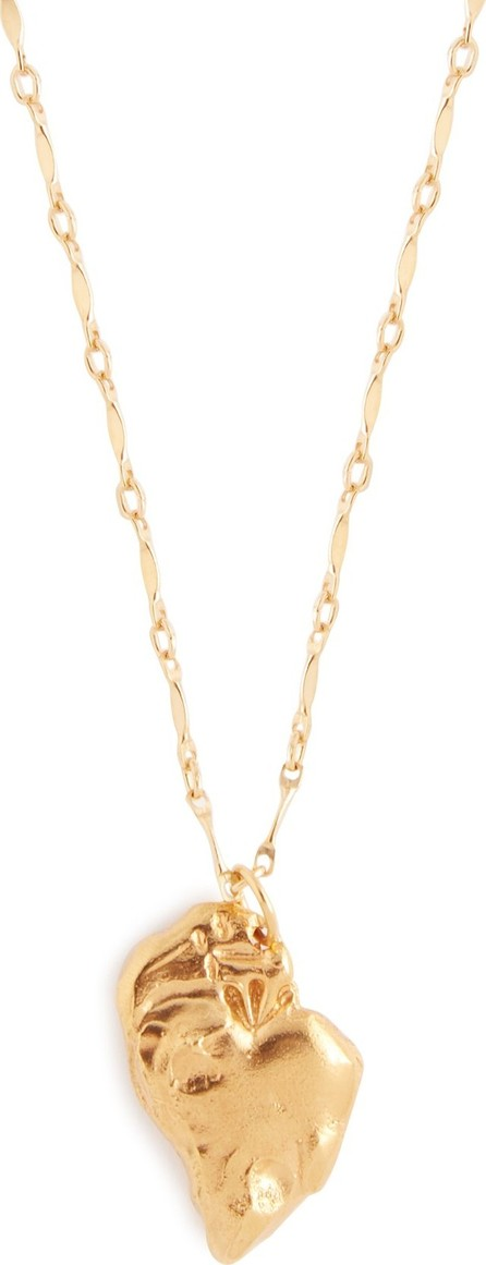 Alighieri Love heart-pendant 24kt gold-plated necklace