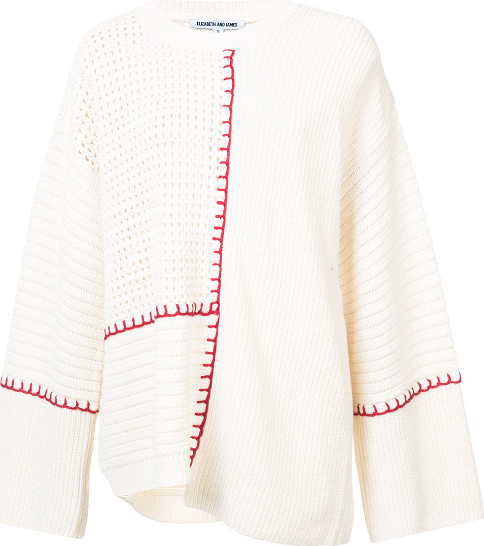 Elizabeth And James - Contrast long-sleeve sweater