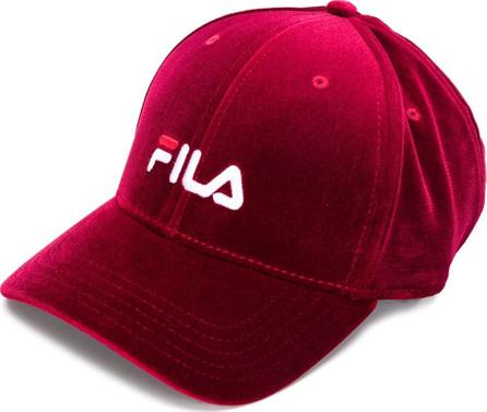 Fila Velvet logo embroidered cap