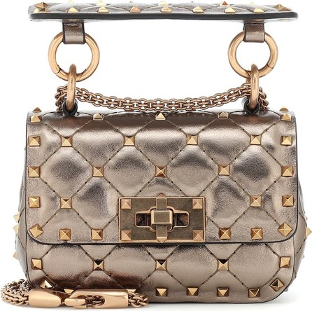 Valentino Valentino Garavani Rockstud Spike Micro leather crossbody bag