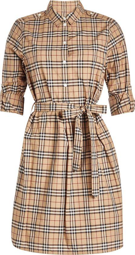 Burberry London England Printed Cotton Shirt Dress