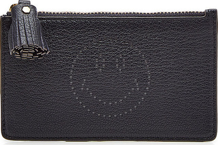 Anya Hindmarch Smiley Leather Zipped Card and Key Case