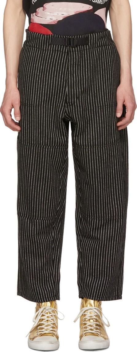 Enfants Riches Deprimes Black & White Striped Wool Japanese Railroad Trousers