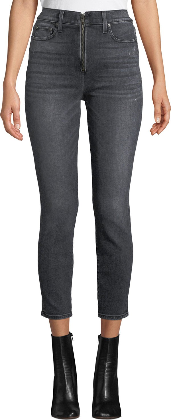 371a11d017 LA by alice + olivia Good High-Rise Ankle Skinny Jeans with Exposed Zip Fly
