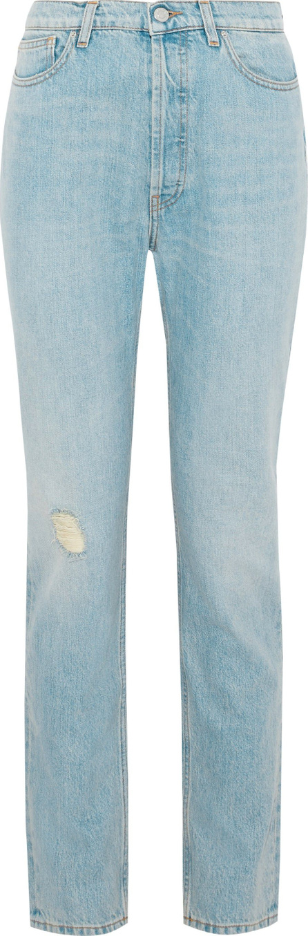 IRO Distressed high-rise slim-leg jeans