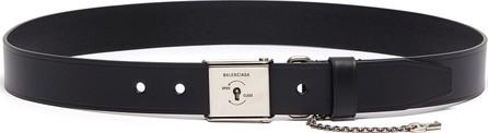 Balenciaga Key lock buckle leather belt