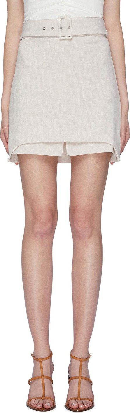 C/MEO Collective 'Mode' belted staggered layered hem skirt