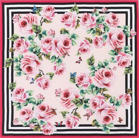 Dolce & Gabbana Floral-printed silk scarf
