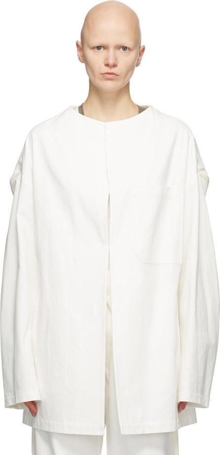 Y's By Yohji Yamamoto White U-Drop Jacket