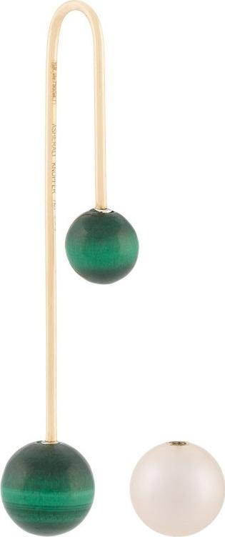 Asherali Knopfer Mix and Match malachite earring