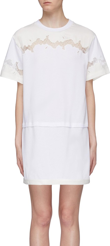 3.1 Phillip Lim Chantilly lace insert panelled T-shirt dress