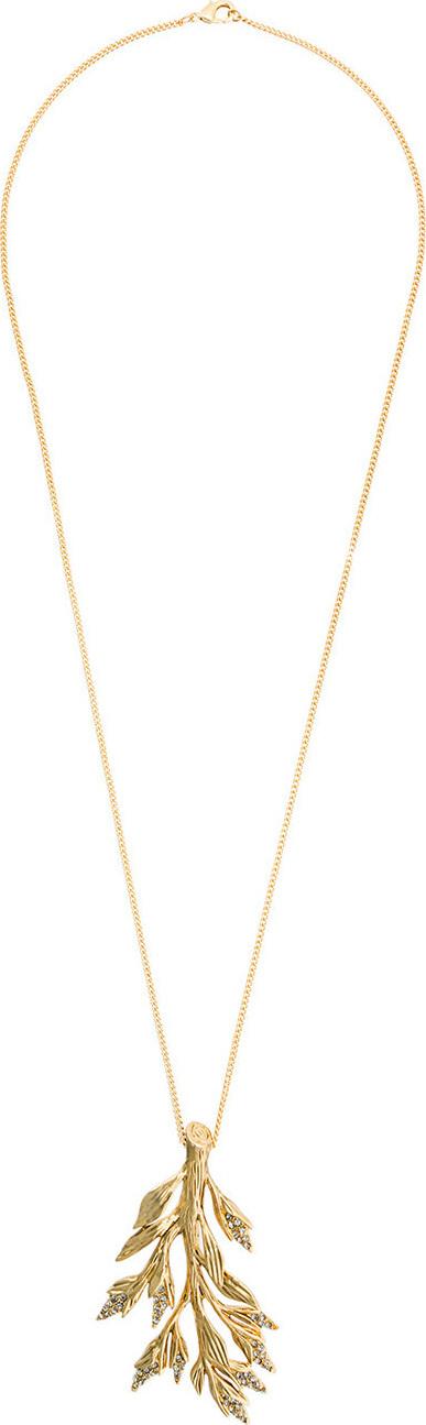 Alberta Ferretti Crystal encrusted branch necklace