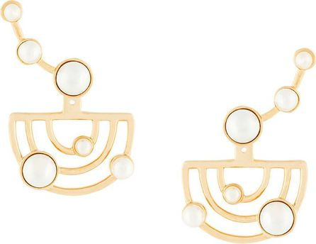 Eshvi Swarovski pearl earrings