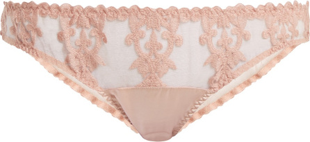Fleur of England Sheer and lace satin classic briefs