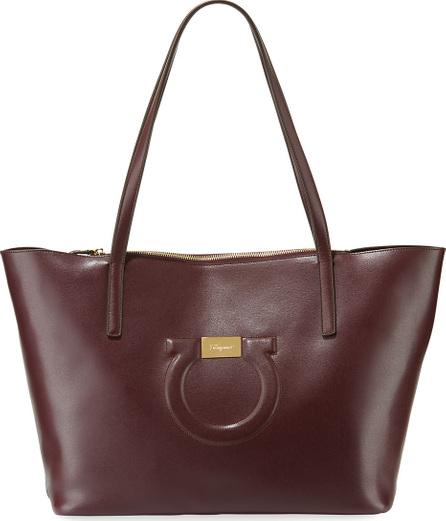 Salvatore Ferragamo Gancio City Leather Shoulder Tote Bag