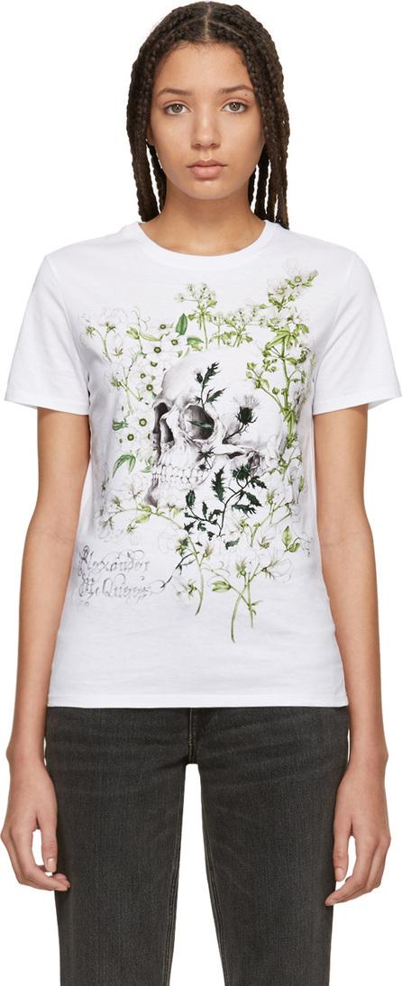 Alexander McQueen White Jung Skull T-Shirt