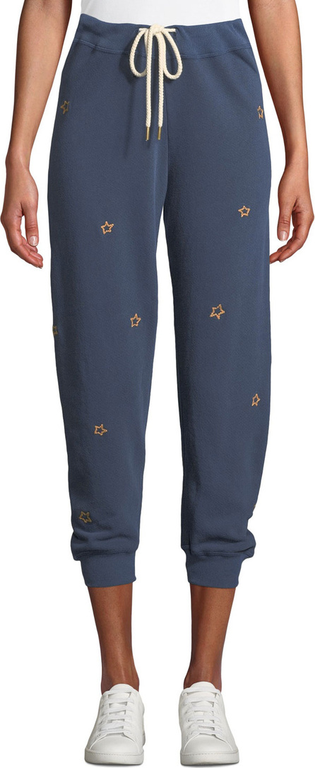 THE GREAT. The Cropped Sweatpants with Stars