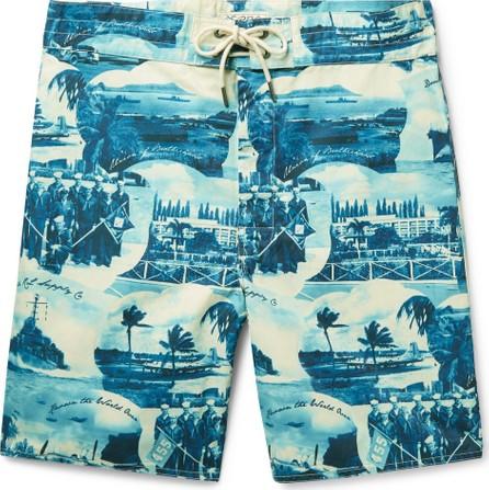 Rrl Long-Length Printed Swim Shorts