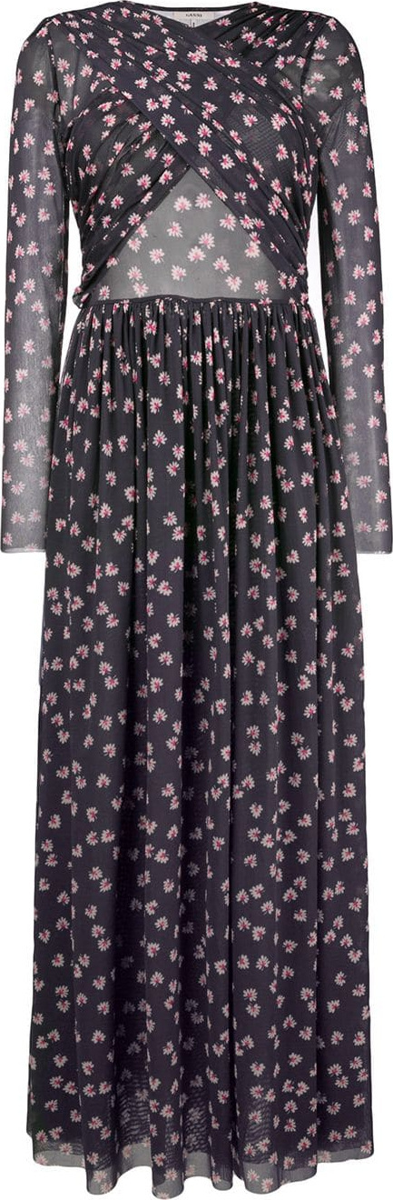 Ganni Floral twist dress