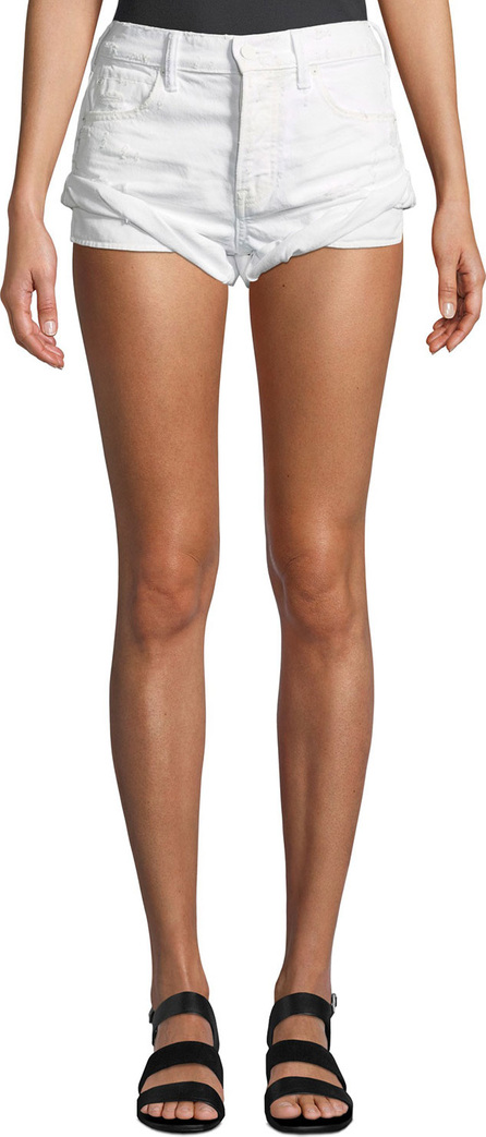 T By Alexander Wang Hike Rolled Distressed Denim Shorts