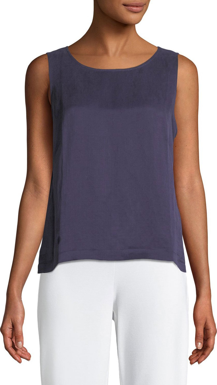 Eileen Fisher - Linen/Silk Satin Shell Top