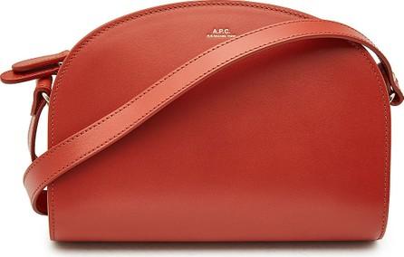 A.P.C. Demi-Lune Leather Shoulder Bag