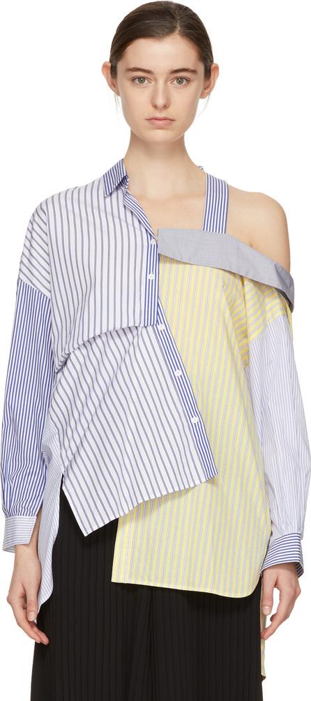 Enfold Multicolor Mix Off-the-Shoulder Shirt