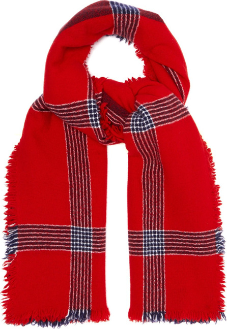 Begg & Co Beaufort Ladakh lambswool and cashmere-blend scarf