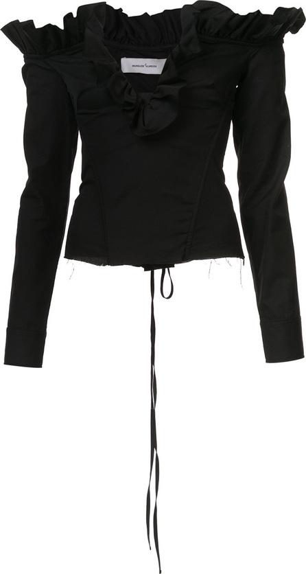 Marques'Almeida V-neck ruffle blouse