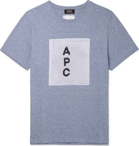 A.P.C. Logo-Print Mélange Cotton-Jersey T-Shirt