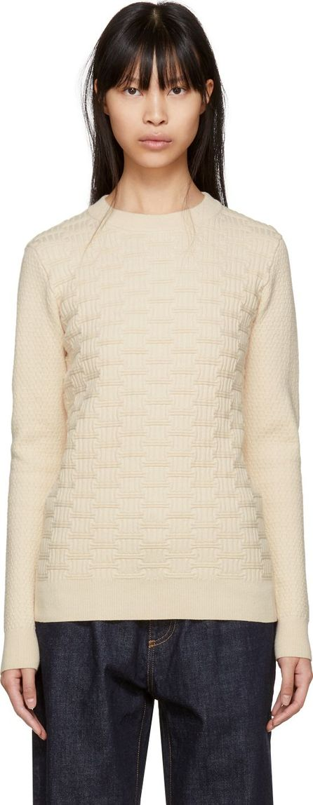 Carven Off-White Textured Knit Sweater