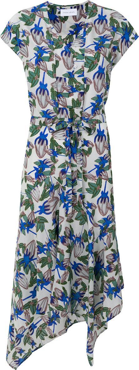 Christian Wijnants Dora blossom-print asymmetric midi dress