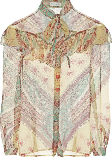 Etro Printed silk blouse