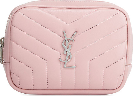 Saint Laurent Loulou Monogram Square Quilted Leather Cosmetics Case