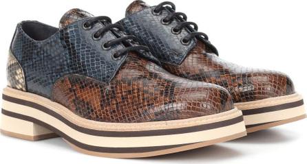 Dries Van Noten Printed leather Derby shoes