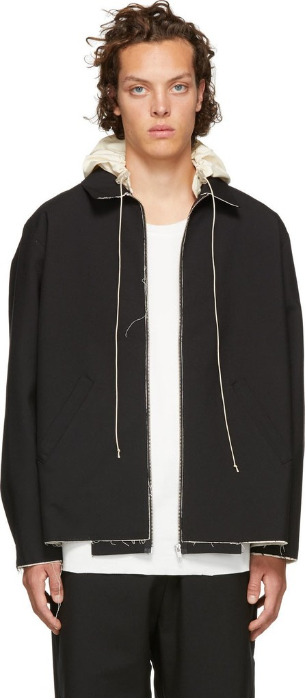 Camiel Fortgens Black Hooded Simple Jacket